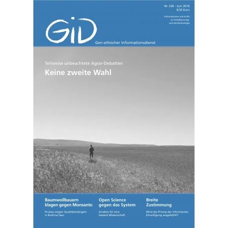 Gen-ethischer Informationsdienst 236
